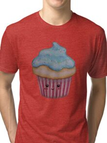 Smiley Cupcake  Tri-blend T-Shirt