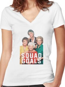 The Golden Squad Women's Fitted V-Neck T-Shirt