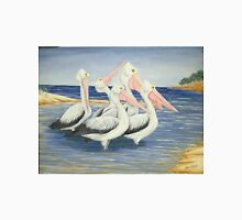 Pelicans Day at the Beach Unisex T-Shirt