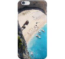 Shipwreck on a beautiful beach iPhone Case/Skin