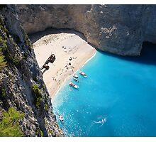 Shipwreck on a beautiful beach Photographic Print