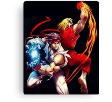 Ken and Ryu  Canvas Print