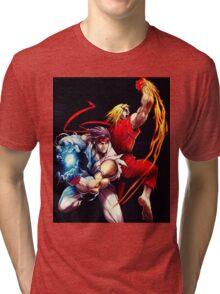 Ken and Ryu  Tri-blend T-Shirt