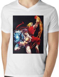 Ken and Ryu  Mens V-Neck T-Shirt