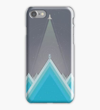 Space Man Blue  iPhone Case/Skin