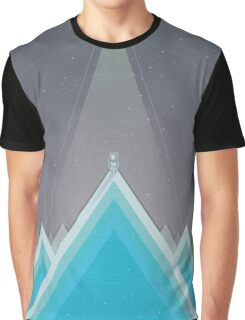Space Man Blue  Graphic T-Shirt