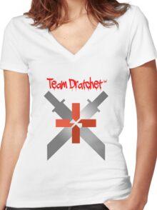 Team Dratchet (tm) Women's Fitted V-Neck T-Shirt