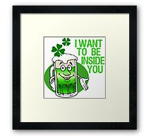 Green Beer Innuendo St Patrick's Day Framed Print