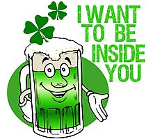 Green Beer Innuendo St Patrick's Day Photographic Print