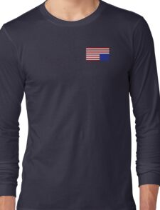 House of Cards style American Flag Long Sleeve T-Shirt