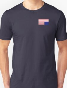 House of Cards style American Flag Unisex T-Shirt