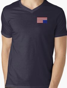 House of Cards style American Flag Mens V-Neck T-Shirt