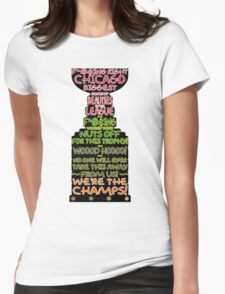 Crawford 2013 Stanley Cup Parade Speech - Color Outline Womens Fitted T-Shirt