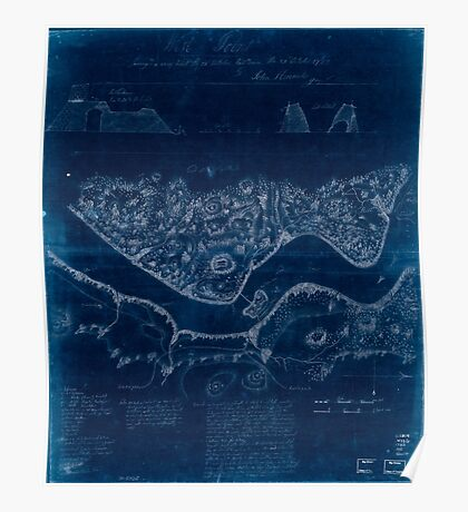American Revolutionary War Era Maps 1750-1786 991 West Point surveyed a coup d'oeil the 24th October laid down the 27th October 1783 Inverted Poster
