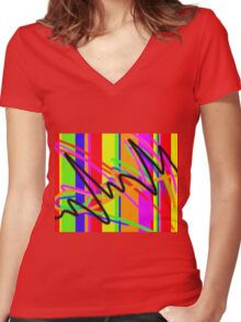 Hearbeat Of Colour Women's Fitted V-Neck T-Shirt