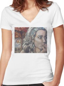 On My Mind Women's Fitted V-Neck T-Shirt