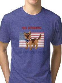 Patriotic German Shepherd Puppy Tri-blend T-Shirt