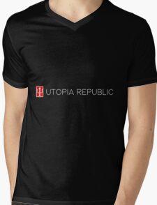 Utopia Republic Emblem. Mens V-Neck T-Shirt