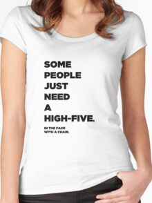 Some People Just Need a High-Five... Women's Fitted Scoop T-Shirt