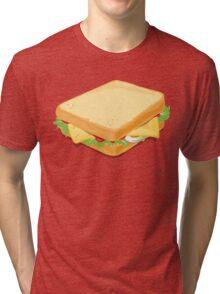 Sandwich Flat Vector Design Tri-blend T-Shirt