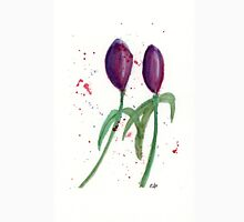 Purple Tulips - Watercolor Painting. Unisex T-Shirt