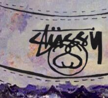 monet stussy bucket hat Sticker