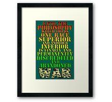 WAR! Framed Print