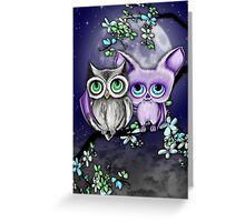 Two Hoots  Greeting Card