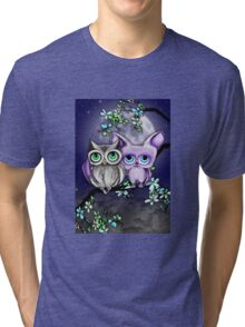 Two Hoots  Tri-blend T-Shirt