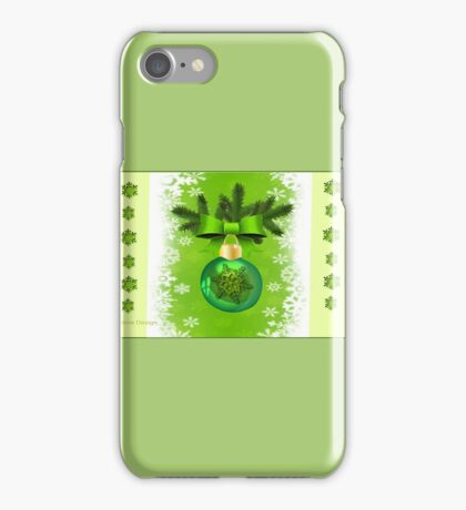Green Christmas ornament  (4796 Views) iPhone Case/Skin