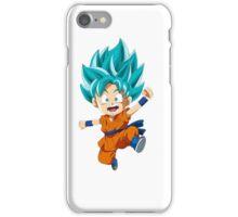 Super Saiyan Blue Chibi Goku iPhone Case/Skin