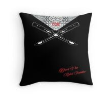 """Deepest Pain Highest Inspiration"" : RISE! apparel for hope Throw Pillow"