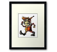 tangerine the clown Framed Print
