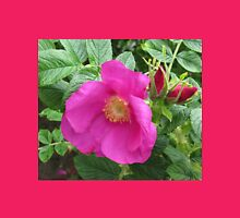Soft and Gentle - Pink Wild Rose with Buds Womens Fitted T-Shirt