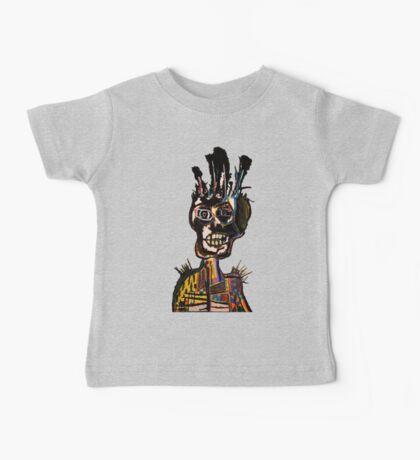 Basquiat African Skull Man Baby Tee
