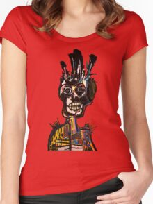 Basquiat African Skull Man Women's Fitted Scoop T-Shirt