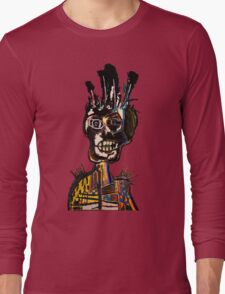 Basquiat African Skull Man Long Sleeve T-Shirt