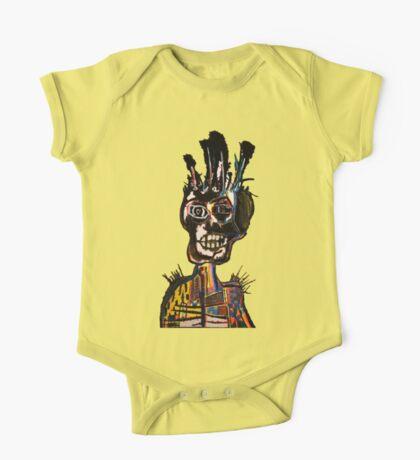 Basquiat African Skull Man One Piece - Short Sleeve