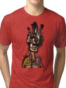 Basquiat African Skull Man Tri-blend T-Shirt