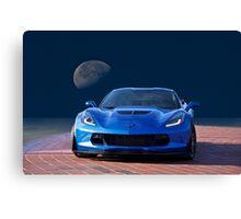 Chevrolet Corvette C7 'Blue Moon' Canvas Print