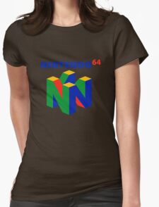 nintendo 64 old retro Womens Fitted T-Shirt