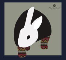 pattern rabbit One Piece - Short Sleeve