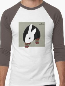 pattern rabbit Men's Baseball ¾ T-Shirt