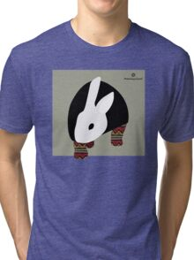 pattern rabbit Tri-blend T-Shirt
