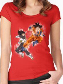 Goku vs. Vegeta Women's Fitted Scoop T-Shirt