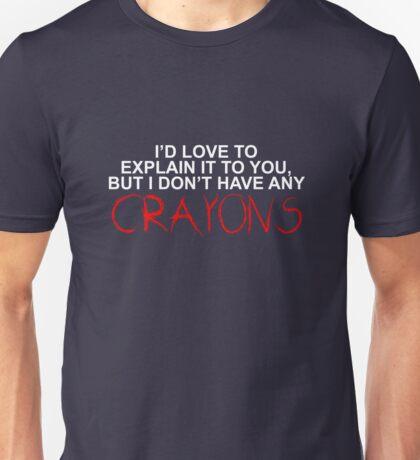 Crayons White Unisex T-Shirt