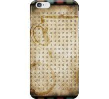 coffee word search iPhone Case/Skin