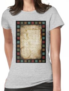 coffee word search Womens Fitted T-Shirt