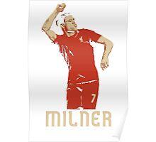 James Milner Liverpool Goal Celebration vs MCFC Poster