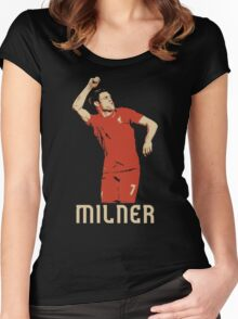 James Milner Liverpool Goal Celebration vs MCFC Women's Fitted Scoop T-Shirt